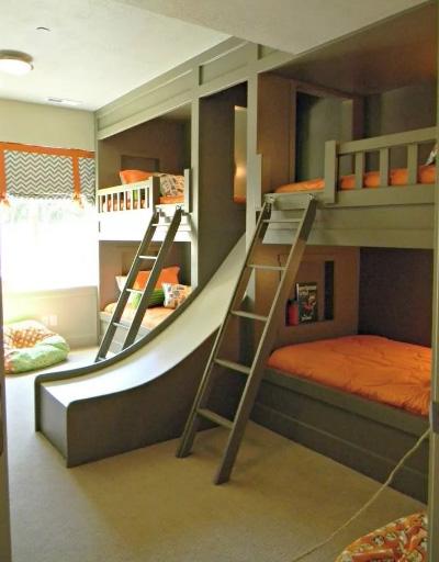 двухъярусная кровать с горкой 1