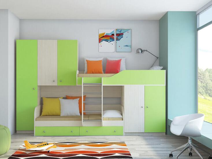двухъярусная кровать-шкаф 2
