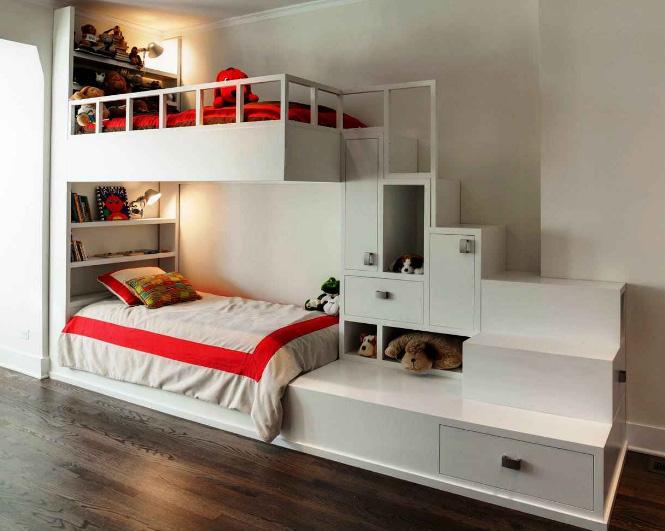 двухъярусная кровать с лестницей 1