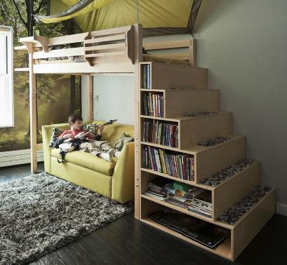 двухъярусная кровать с лестнице 2