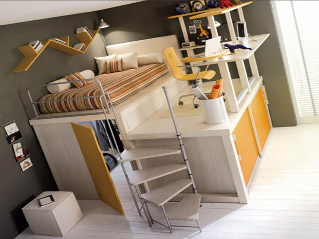 двухъярусная кровать мини-комната