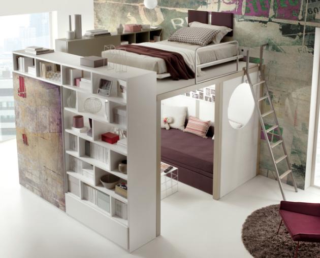 двухъярусная кровать-комната