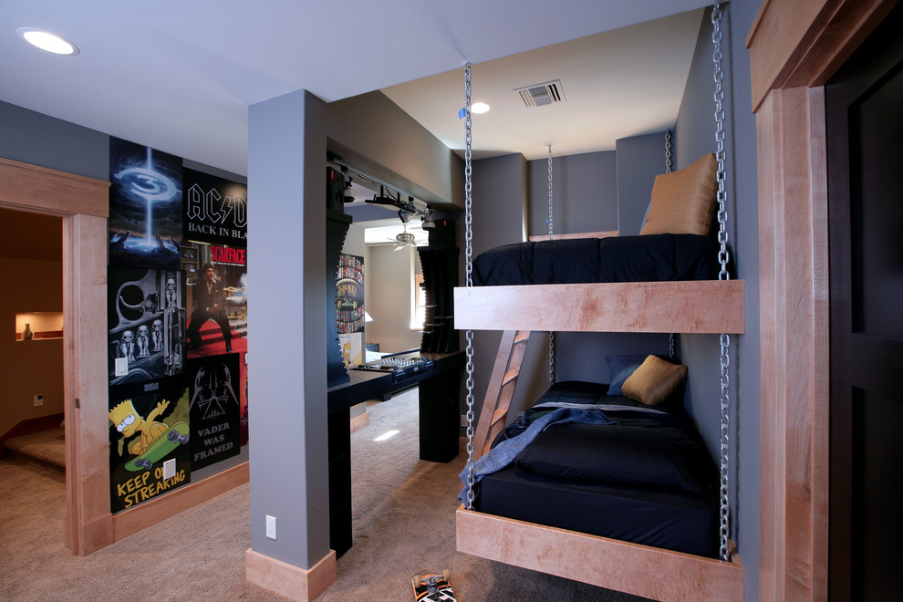 подвесная двухъярусная кровать 2