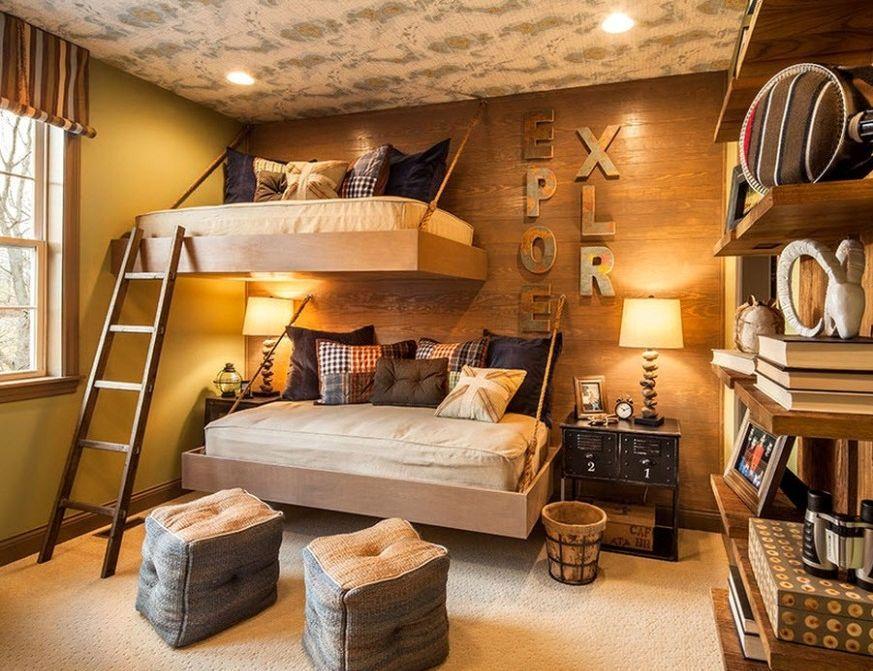 подвесная двухъярусная кровать 1
