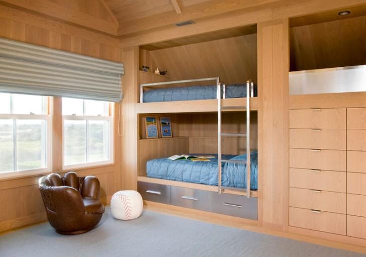 встроенная двухъярусная кровать 1