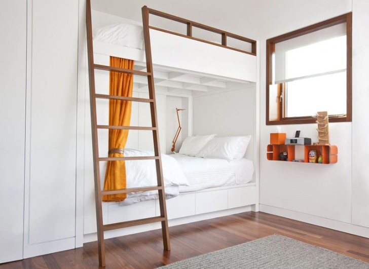 встроенная двухъярусная кровать 2