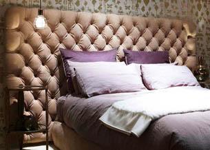 Кровать с изголовьем в стиле капитоне 3