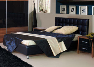 Кровать с мягким изголовьем геометрические фигуры 5