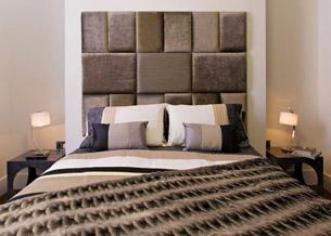 Кровать с мягким изголовьем геометрические фигуры 2