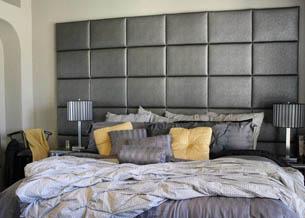Кровать с мягким изголовьем геометрические фигуры 6