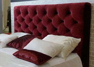 Кровать с изголовьем в стиле капитоне 2