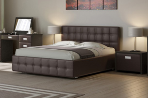 Кровать с мягким изголовьем 2