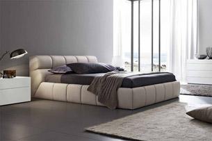 Кровать с мягким изголовьем 4