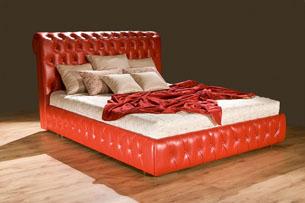 Кровать с мягким изголовьем 6