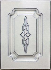 Патина серебро на белом