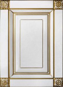 Патина золото на белом