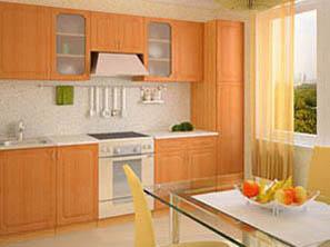 кухня с фасадом эконом 1