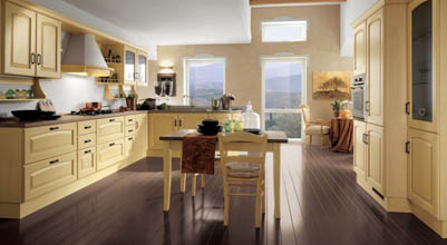 кухня с фасадом классика 1