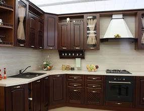кухня с фасадом классика 2
