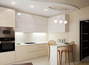 кухня с островом проект 006