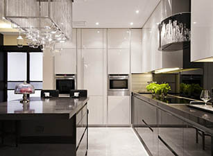 кухня современная проект 095
