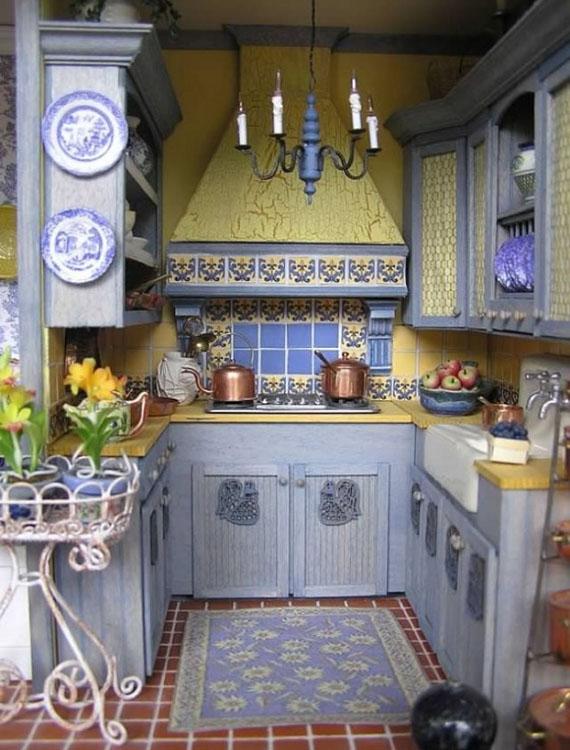 маленькая кухня в этническом стиле