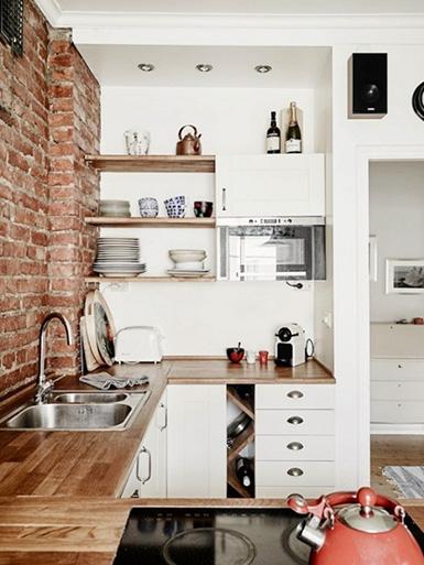 кухня в стиле лофт в студии