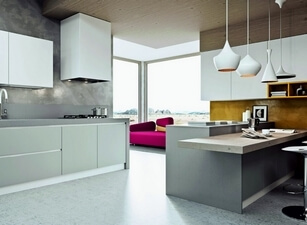 кухня с островом 011а