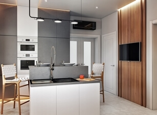 кухня с островом 117а
