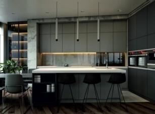 кухня хайтек 065а