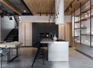 кухня лофт 010а