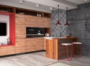 кухня лофт 027а