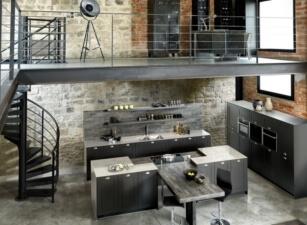 кухня лофт 057а