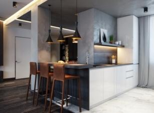 кухня лофт 074а
