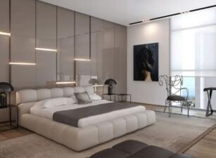 Мягкая кровать 007а