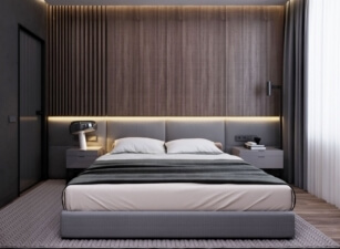 Мягкая кровать 009а