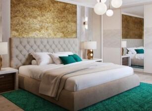 Мягкая кровать 011а