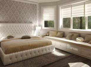 Мягкая кровать 012а