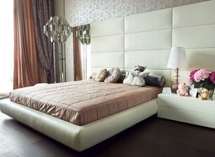 Мягкая кровать 017а
