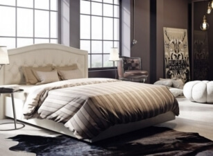 Мягкая кровать 022а