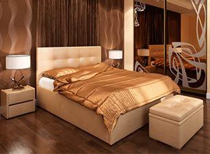 Мягкая кровать 014а