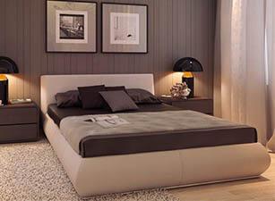 Мягкая кровать 015а