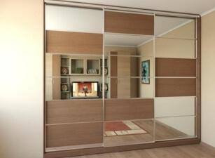 Зеркальный шкаф-купе 046а