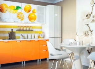 Кухня с фотопечатью Проект 003а