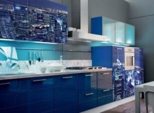Кухня с фотопечатью Проект 012а