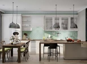 кухня в скандинавском стиле 008а