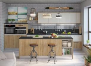 кухня в скандинавском стиле 015а