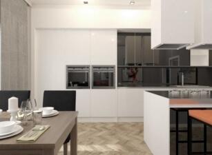 кухня в скандинавском стиле 022а