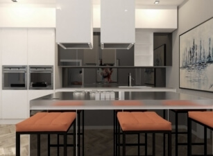 кухня в скандинавском стиле 023а