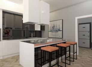кухня в скандинавском стиле 024а